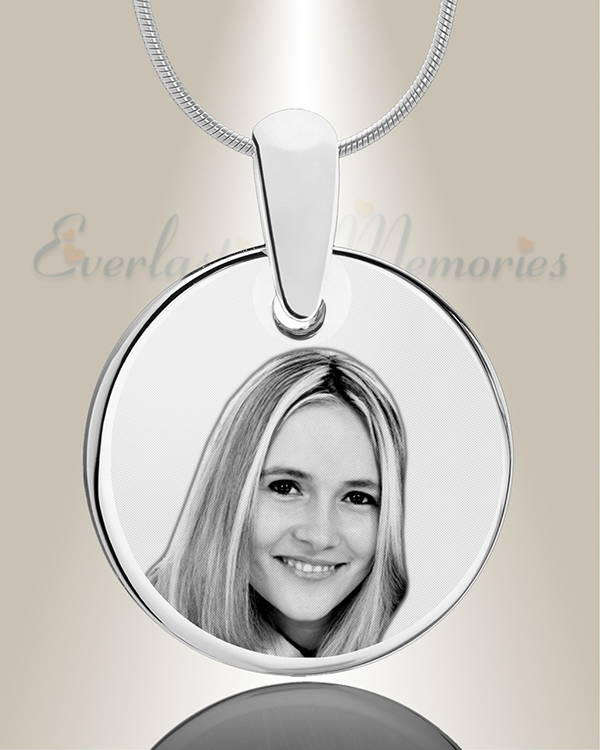 Stainless Photo Engraved Round