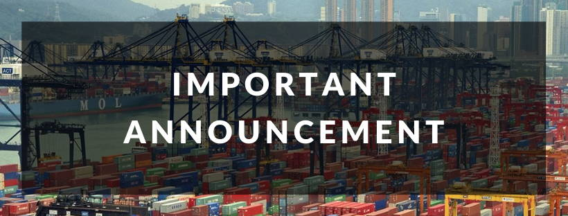Shipping Delay Announcement