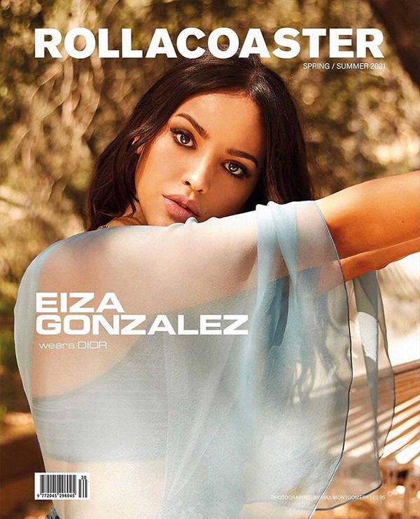 Eiza Gonzalez wearing Galvan Long white Prism dress