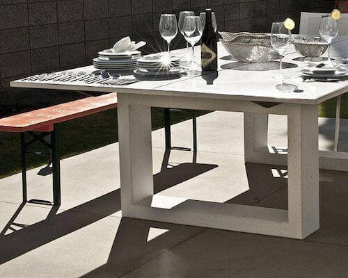 James De Wulf Concrete Ping Pong & Dining Table