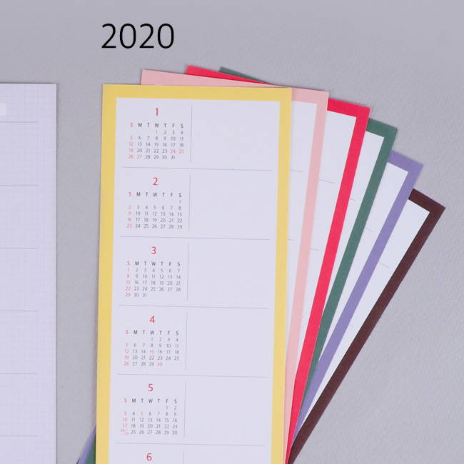 Comes with a 2020 calendar - Rihoon 2020 I like weekly dated grid diary planner