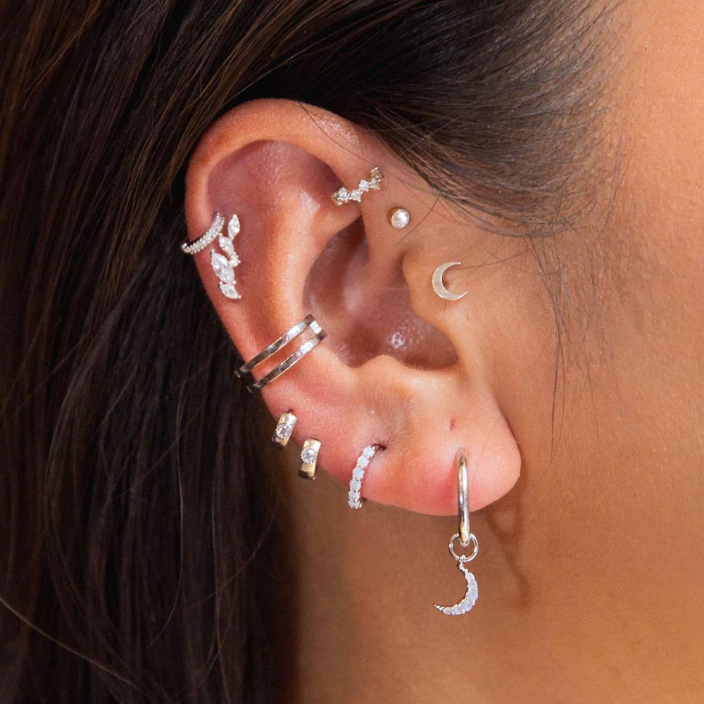 cartilage hoops ear stack