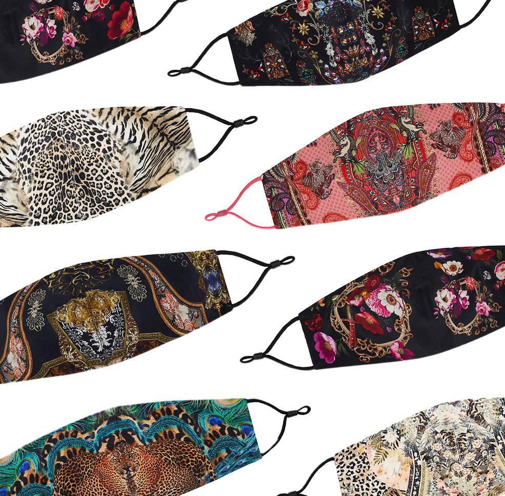 Variety of CAMILLA printed face masks