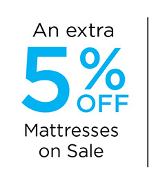 An Extra 5% off Mattresses on Sale
