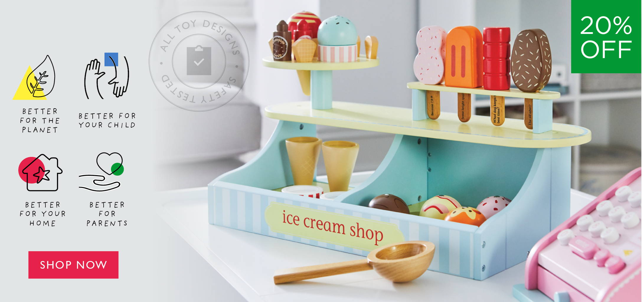 lolly and scoop ice cream set.
