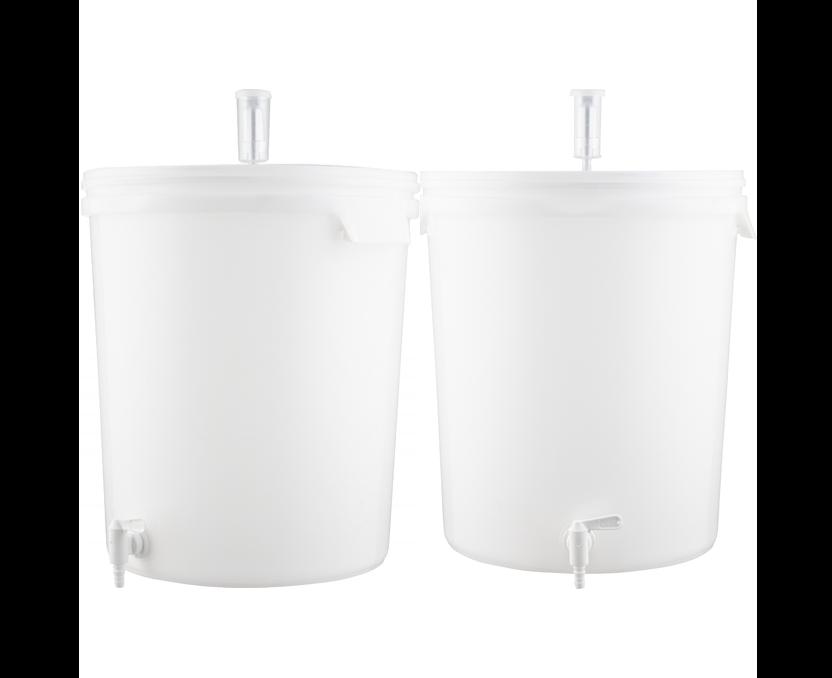 2 PACK Plastic Bucket Fermenter With Spigot - 7.9 Gallons (30 L)