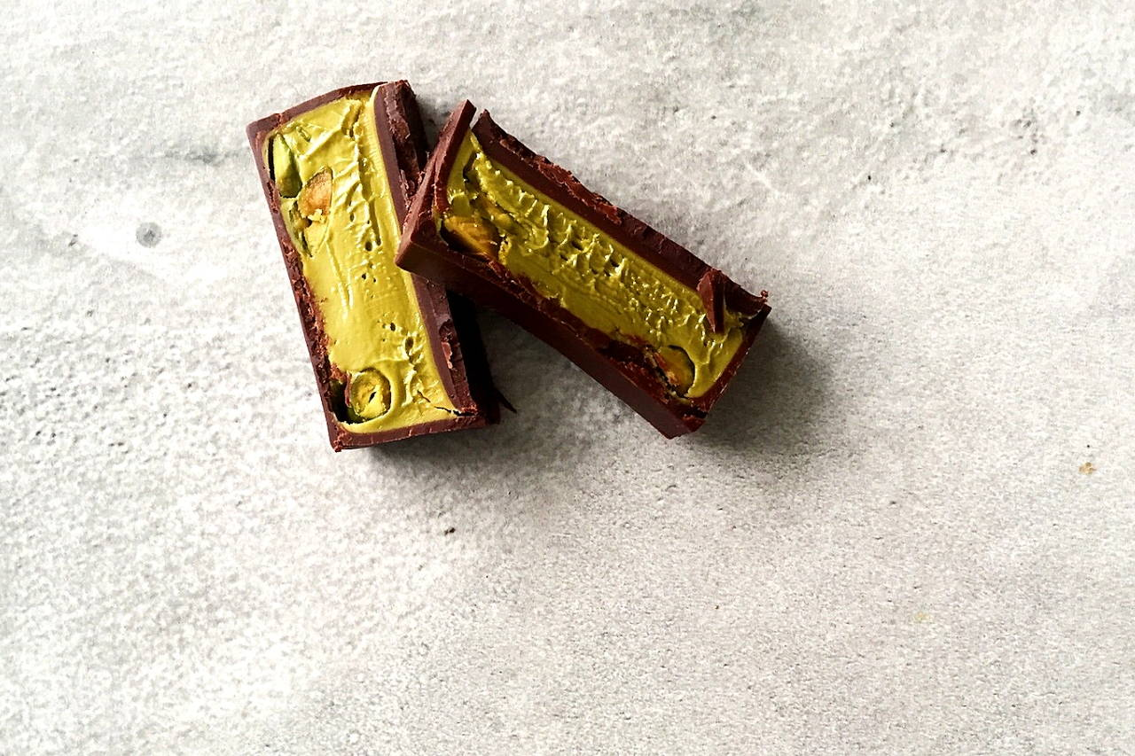 french chocolate | pralus pistachio chocolate