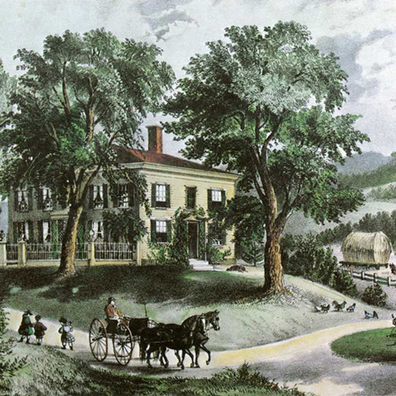 Currier and Ives Art