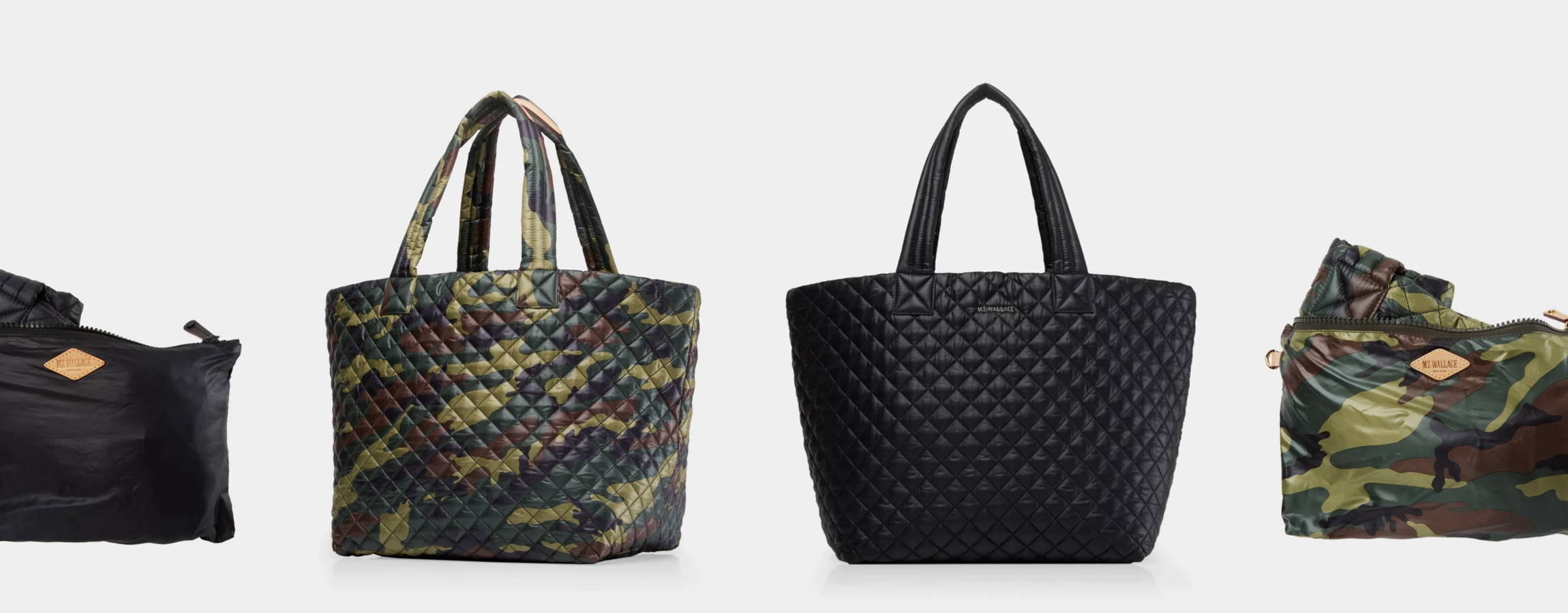 mz wallace tote bag camo black