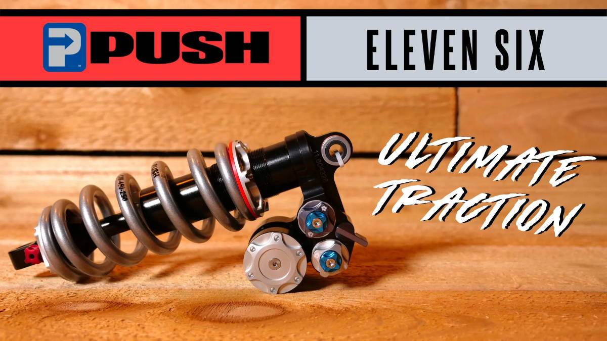 push elevensix eleven six 11 6 mountain bike mtb rear shock black coil liquid