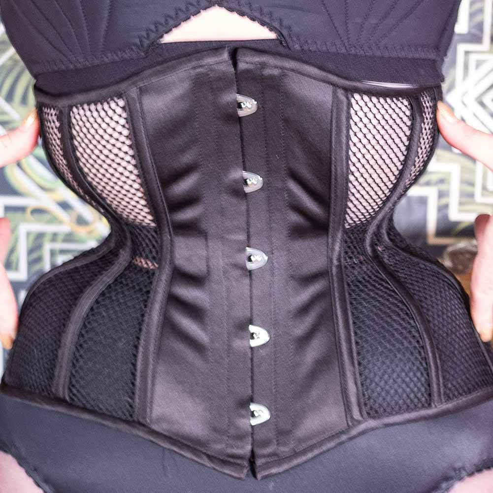 single layer mesh corset