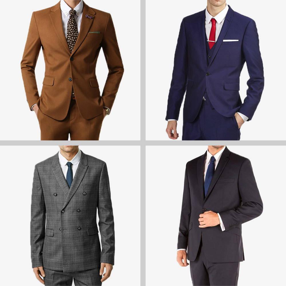 4 different suit photos