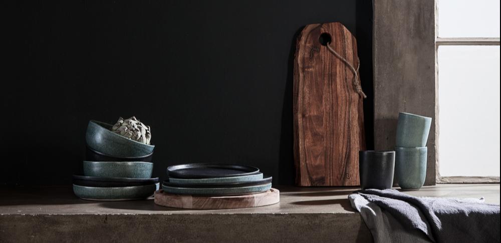 acacia wood chopping board crockery kitchen mugs serving board