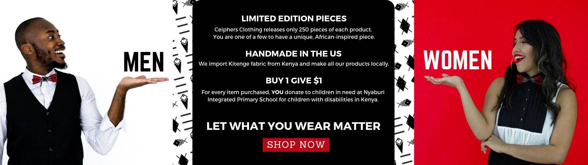 African Inspired Clothing, American Made - Ceiphers Clothing