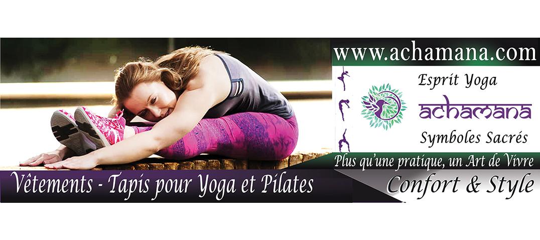 Magasin yoga Lille - Vêtements , legging et tapis de yoga bio - Achamana