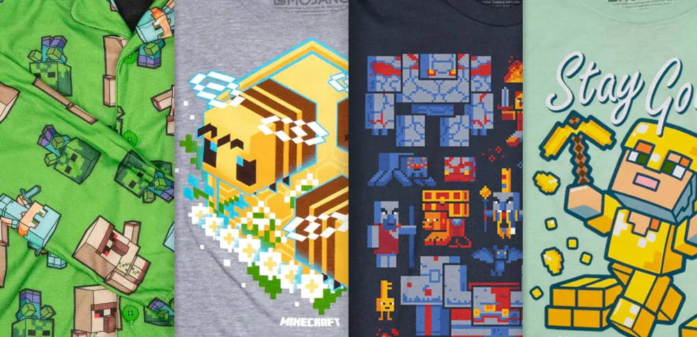 A collection of Minecrat tee designs