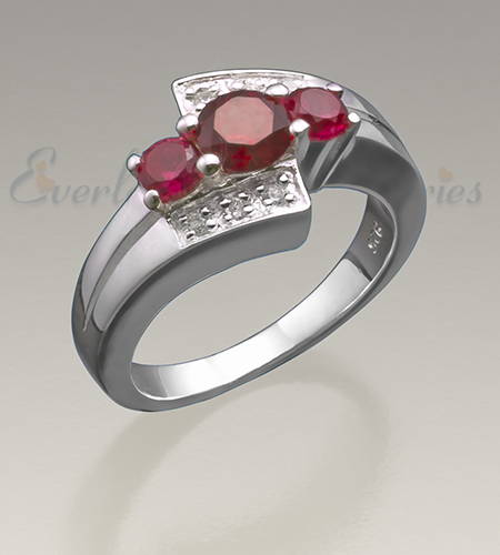 Sterling Silver Ladies Shimmer Ash Ring