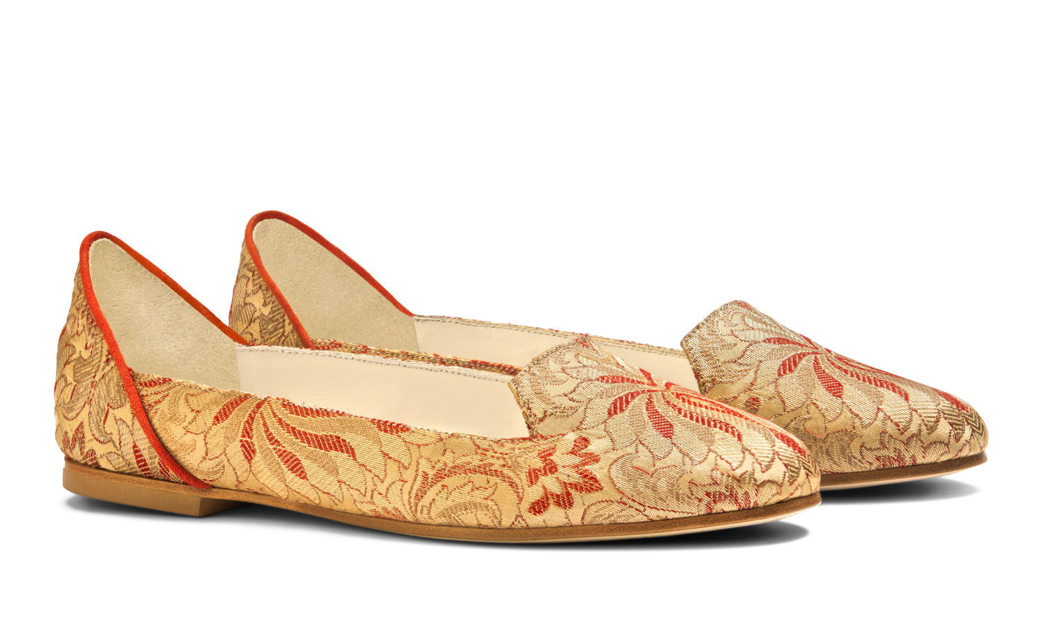 Bote A Mano Ballet Flats Red Made in Italy