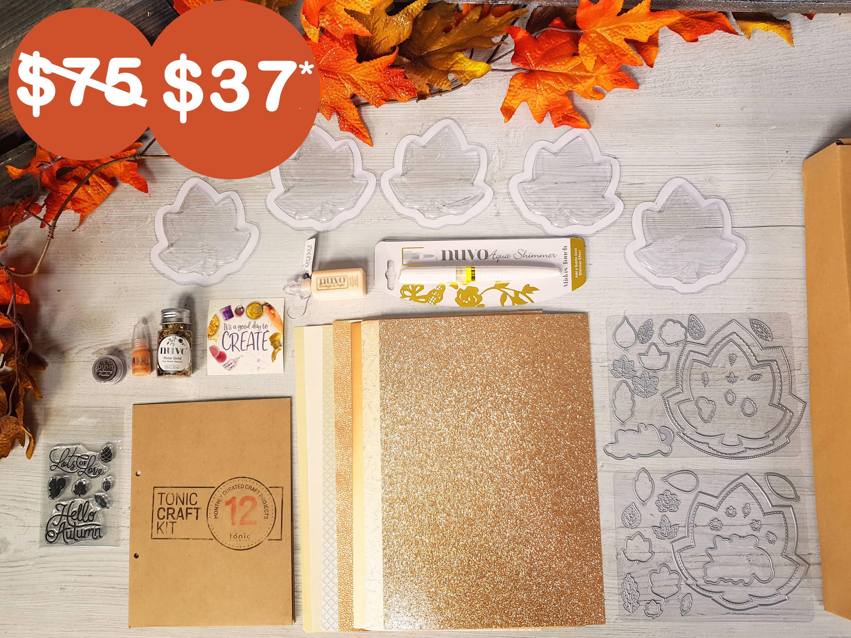 Tonic Craft Kit 12  Hello Autumn Shaker