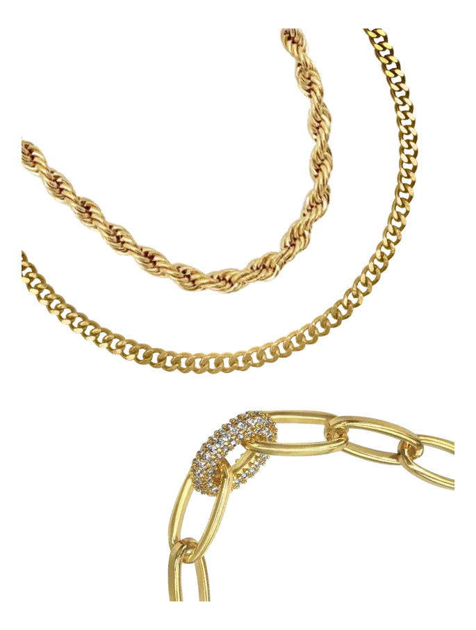 Cyprus Chain - gold plated over stainless steel