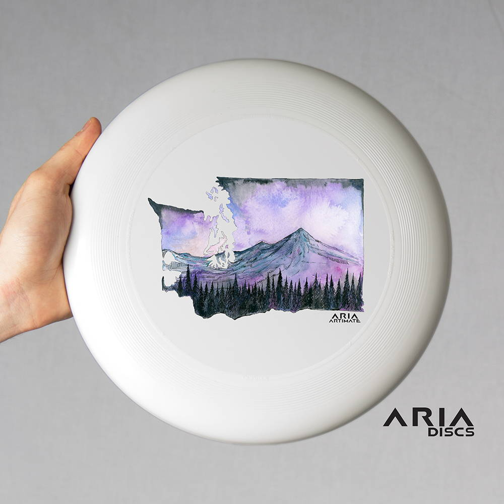 ARIA professional official ultimate flying disc for the sport commonly known as 'ultimate frisbee' all that is washington design art sophia trinh artimate