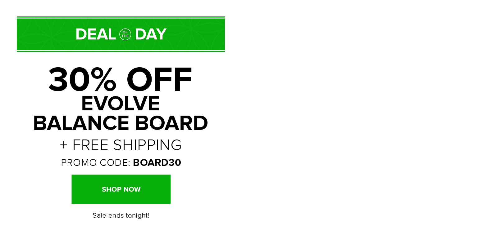 30% off the Evolve Balance Board with code BOARD30