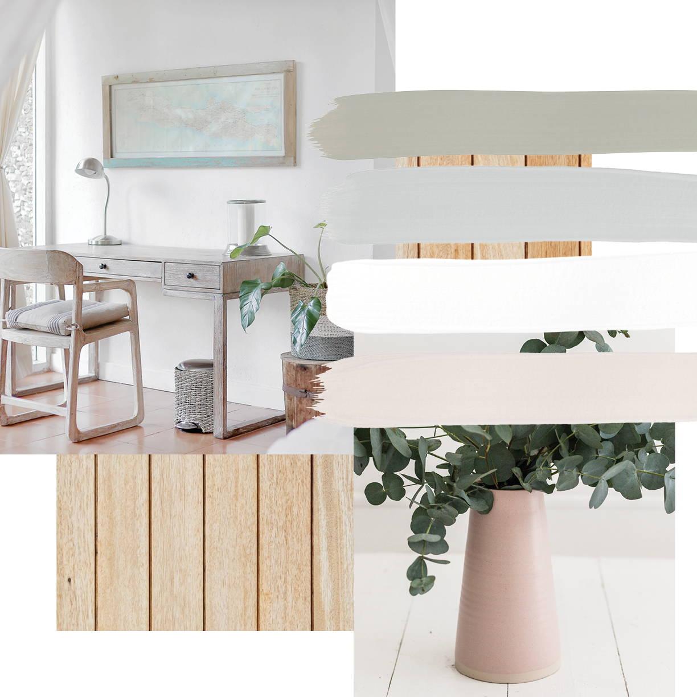 Scandi interior design style moodboard