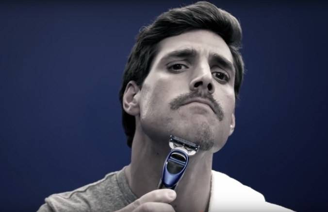 Step 6 image. Shave with light, gentle strokes.