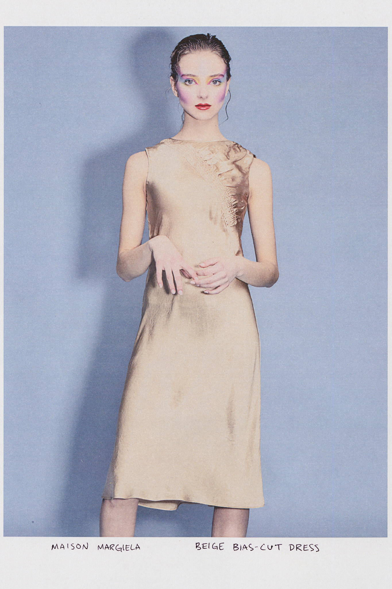 Maison Margiela Beige Bias Cut Dress