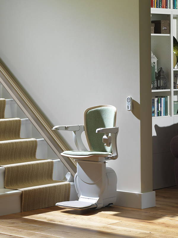 Straight Stair Lift Stannah 600 Starla chair  by VIVA Mobility
