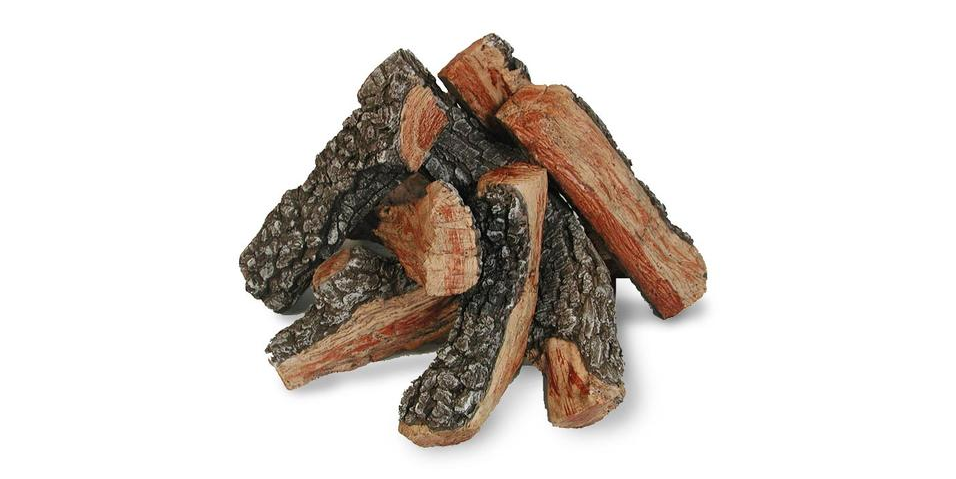 A set of ceramic gas logs