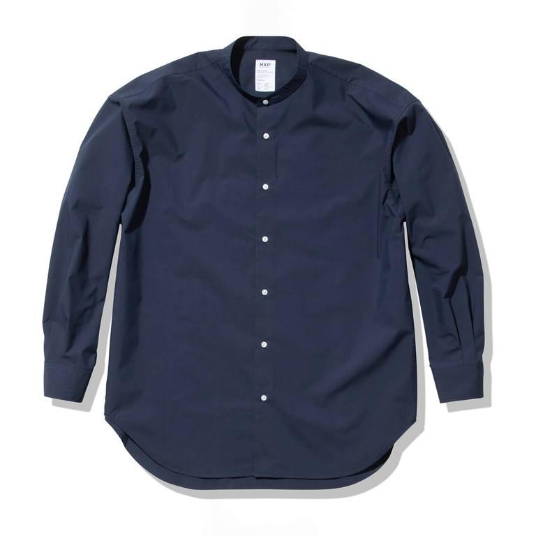 MXP(エムエックスピー)/ロングスリーブ スマートブロードボックスシャツ/ネイビー/UNISEX