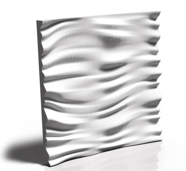 3D Ceramic Gypsum - model WIND & WAVE