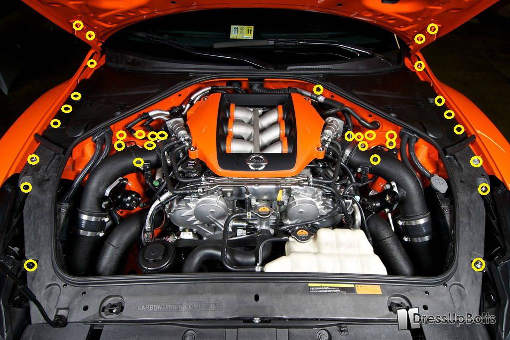 Titanium Hood Prop // Rod Fits Nissan GT-R JDM R35 Skyline Burnt Finish
