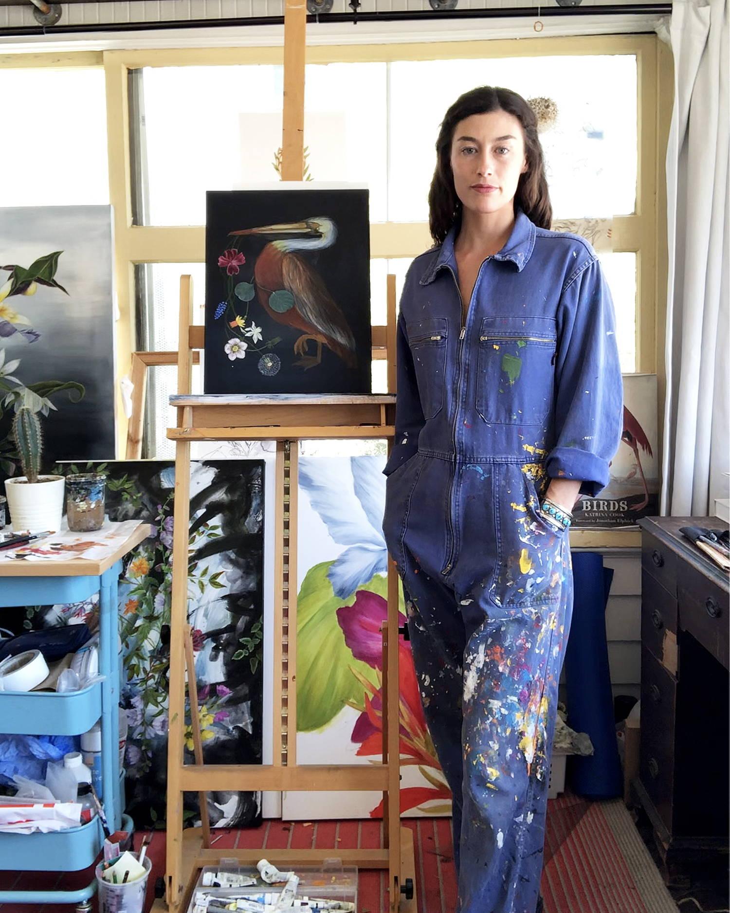 Velia De Iluiis in her art studio