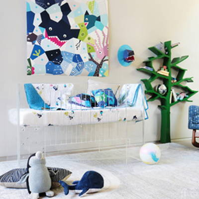 Nursery works decor and bedding
