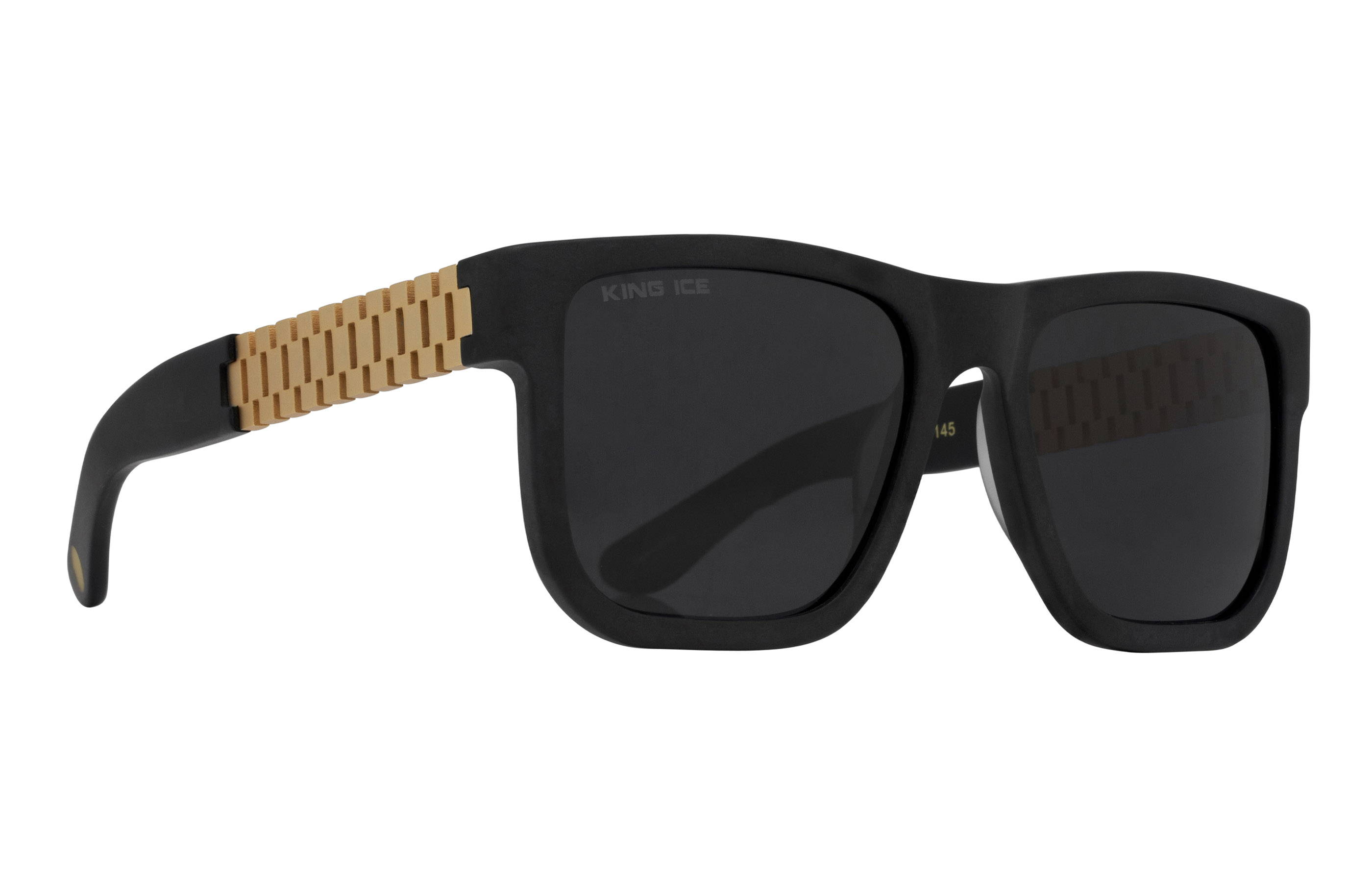 King Ice Gold Link Shades with Matte Black Frame