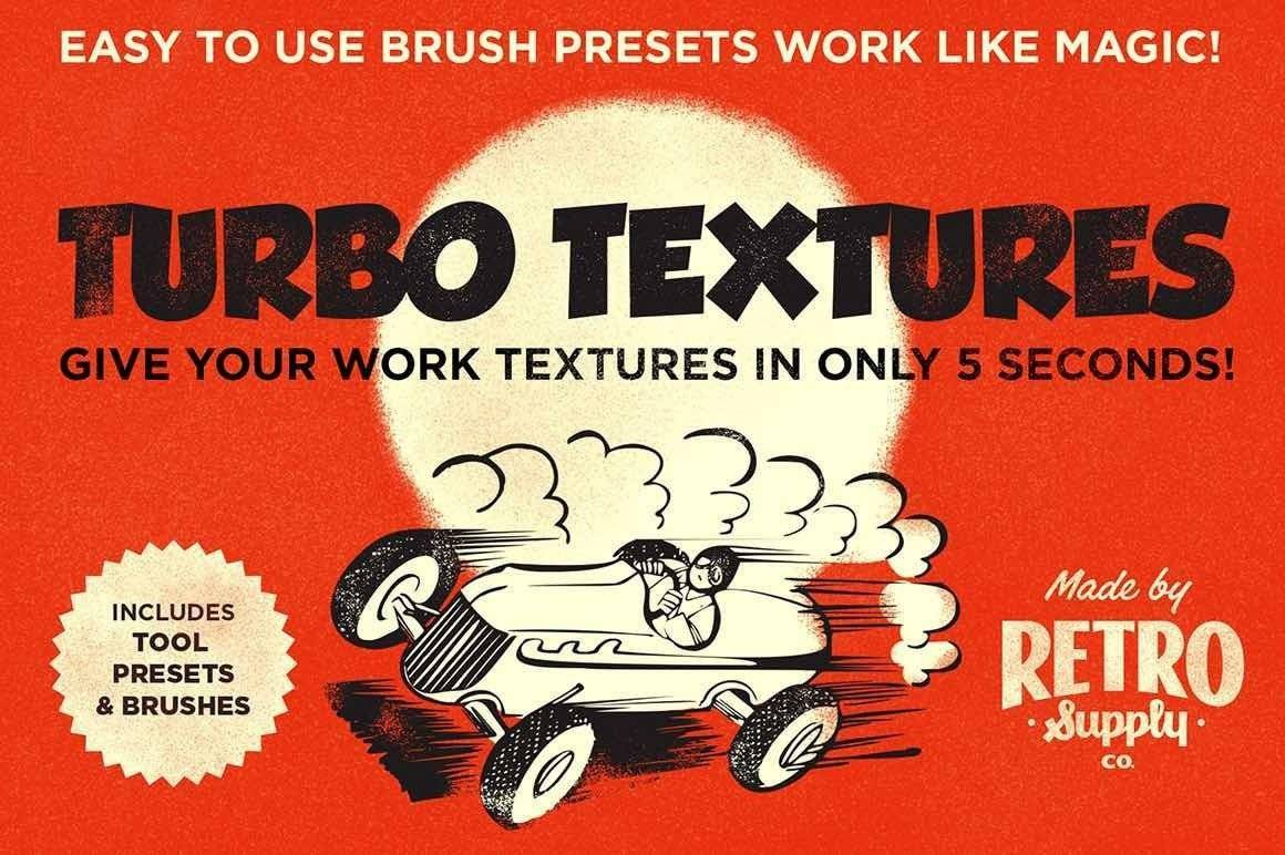 Turbo Textures - Subtle grain texture tool presets and brushes for Adobe Photohop