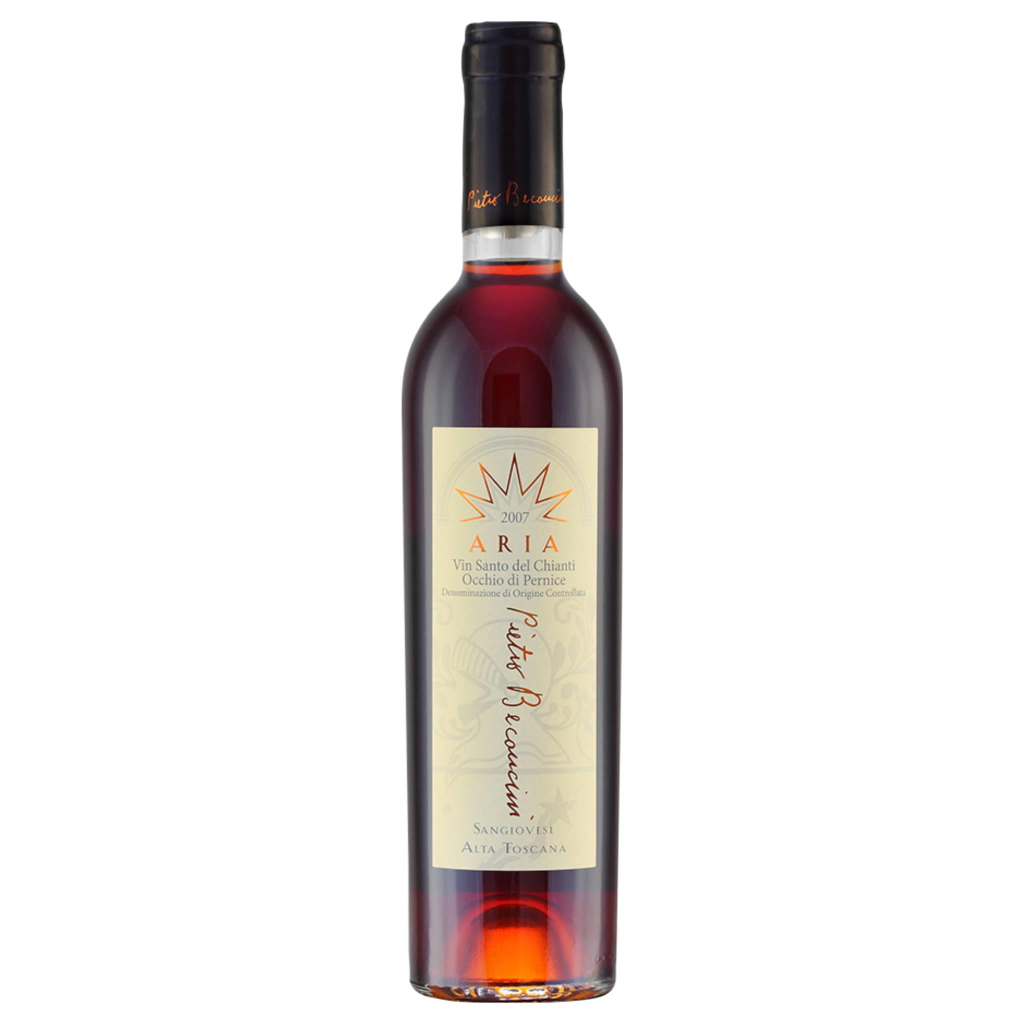 Pietro Beconcini Aria Occhio di Pernice VS 375ml  Vin Santo del Chianti D.O.C. Italian wines  distributed by Beviamo International in Houston, TX