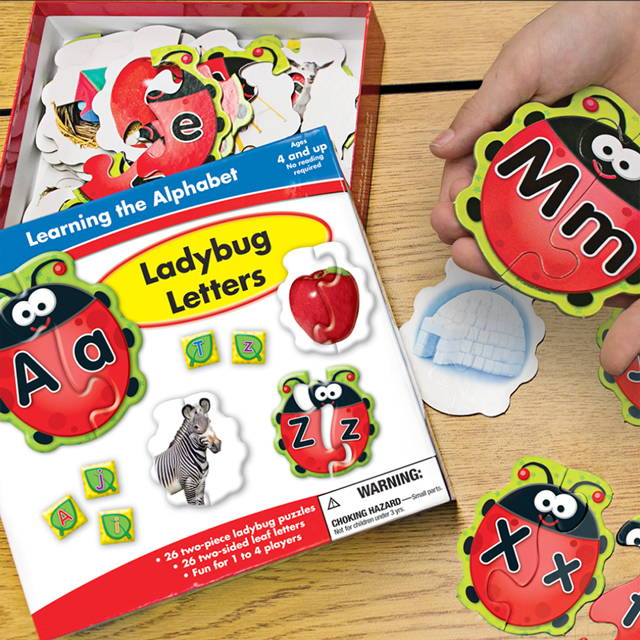 Ladybug letters games and puzzles for at home learning