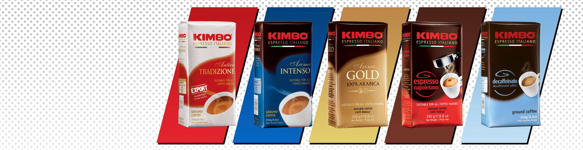 Full Kimbo Coffee Ground Range