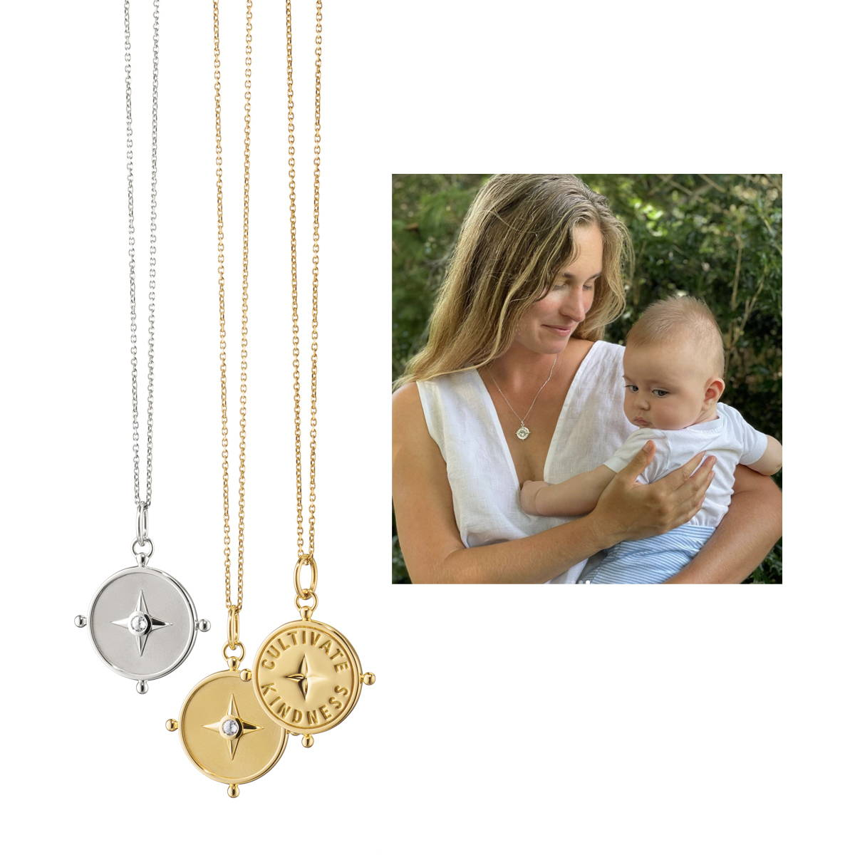 Cultivate kindness charm necklace