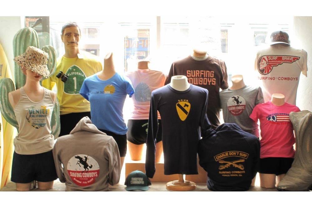 Surfing Cowboys T shirts and Sweatshirts