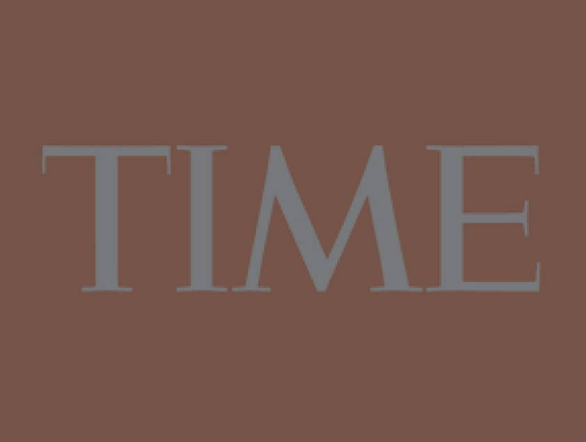time magazine on red background