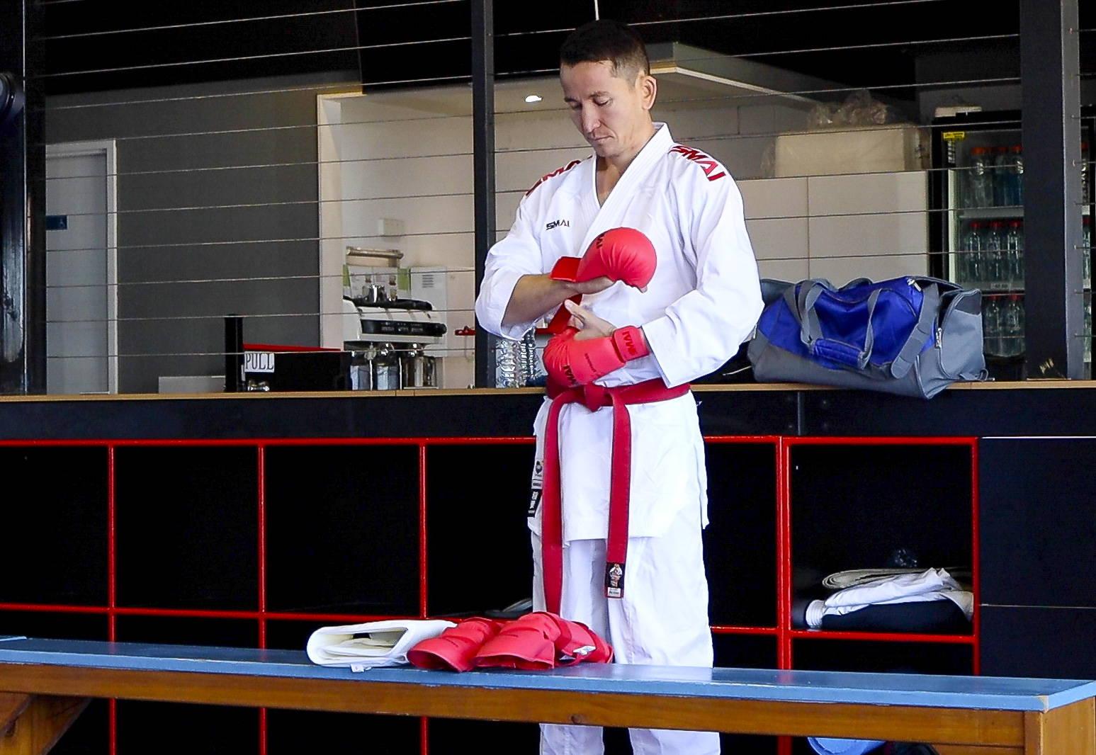 Asif Sultani KArate Athlete Tokyo Olympics Refugee Team 2020 prepares for training
