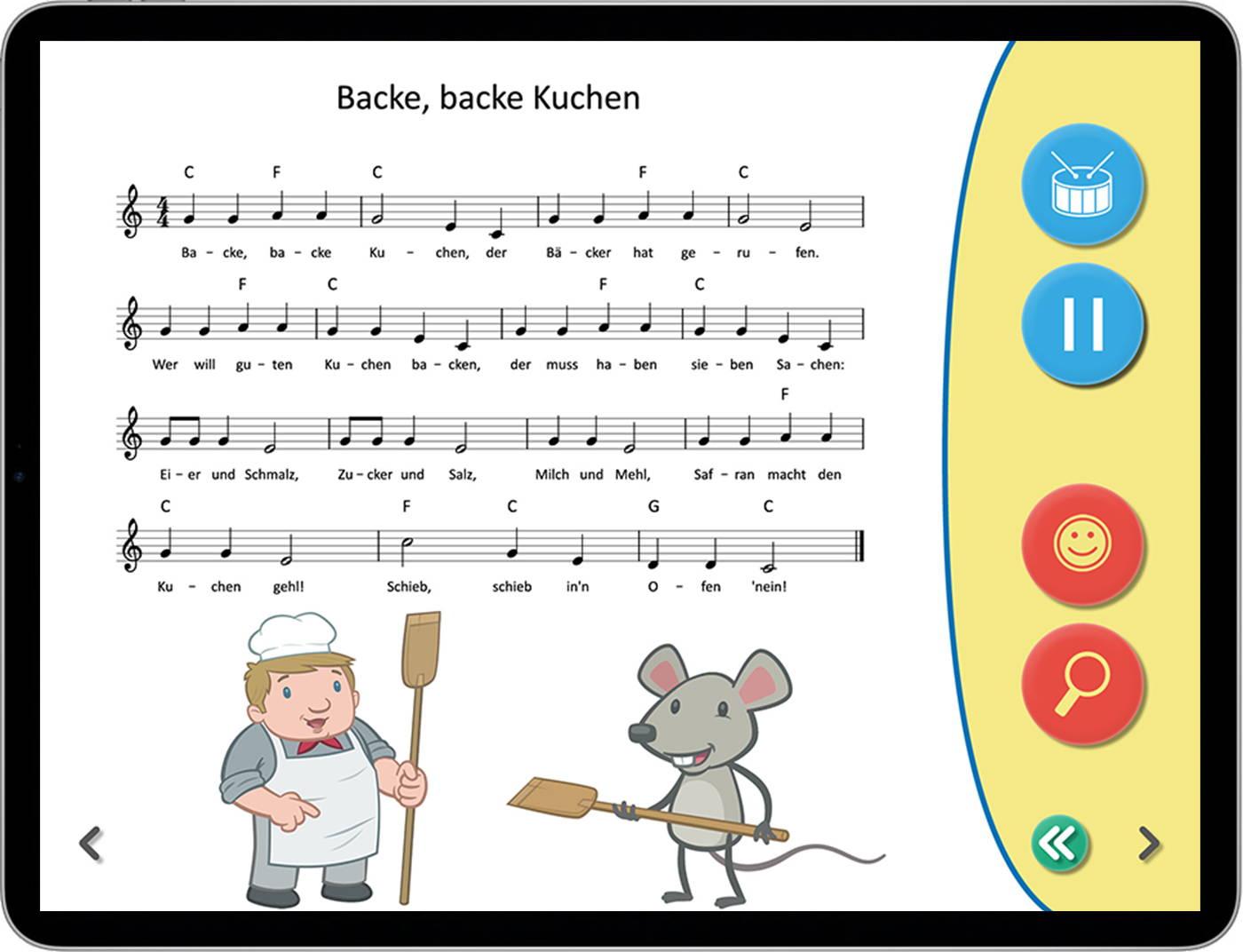 Sing Kinderlieder - Musik, Noten und Text