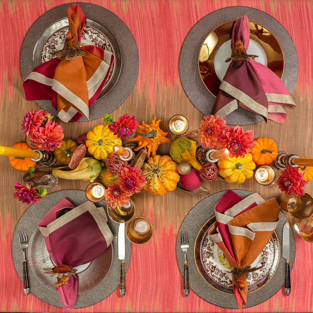 Harvest Colors Thanksgiving Table