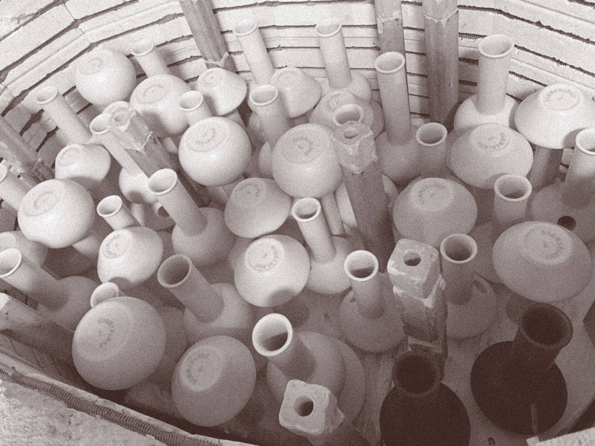 Ceramic bongs in kiln