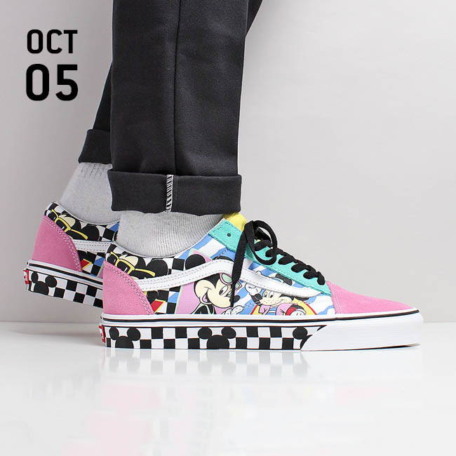131a9b5fe2b4cc Vans X Disney Old Skool Shoes - (Disney) 80 s Mickey True White ...