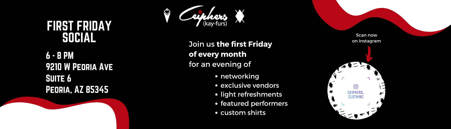 Phoenix Networking First Friday Social with Ceiphers Clothing